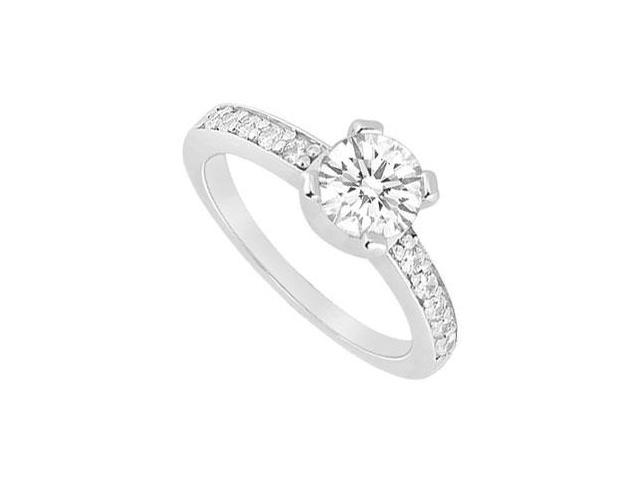14K White Gold Semi Mount Engagement Ring with 0.16 Carat Diamonds Without Center Diamond