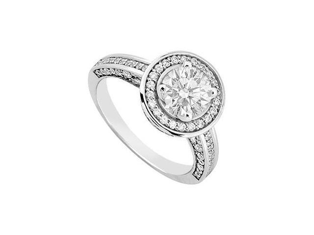 Halo Semi Mount Engagement Ring in 14K White Gold 0.80 CT Diamonds Not Included Center Diamond