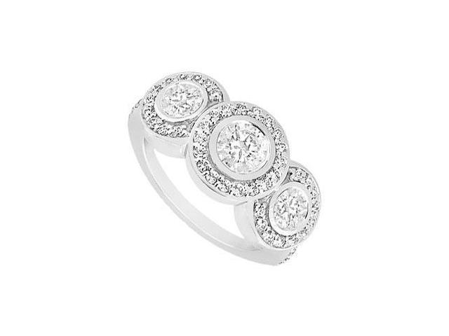 Diamond Engagement Ring  14K White Gold - 0.66 CT Diamonds