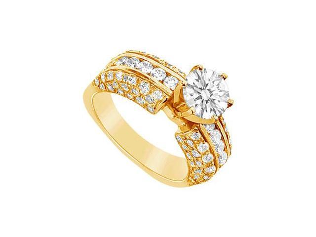 Diamond Engagement Ring  14K Yellow Gold - 2.75 CT Diamonds