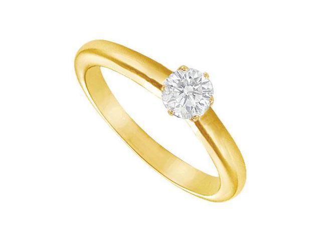 Diamond Solitaire Ring 14K yellow Gold - 0.25 CT Diamond