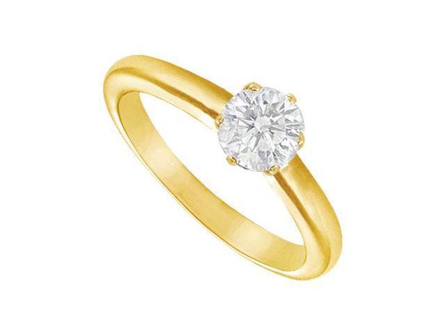 Diamond Solitaire Ring  14K yellow Gold - 0.75 CT Diamond