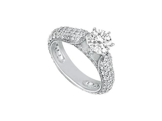 Diamond Engagement Ring  Platinum - 1.50 CT Diamonds