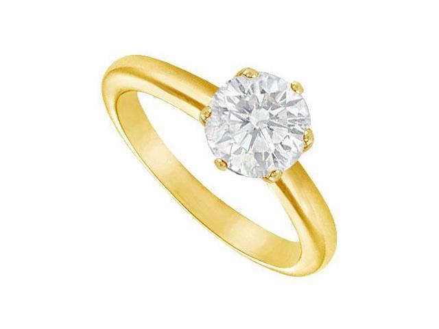 Diamond Solitaire Ring  14K Yellow Gold  2.00 CT Diamond