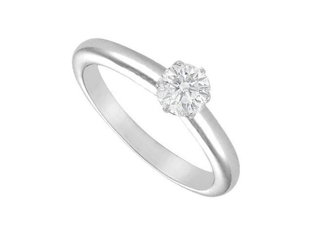 Diamond Solitaire Ring  18K White Gold  0.33 CT Diamond