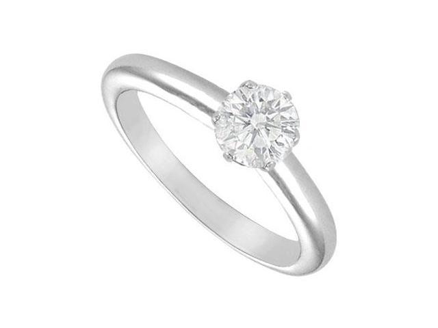 Diamond Solitaire Ring  18K White Gold  0.75 CT Diamond