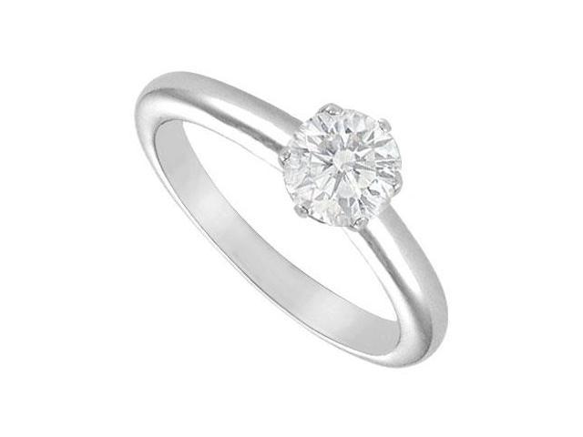 Diamond Solitaire Ring  18K White Gold  1.00 CT Diamond