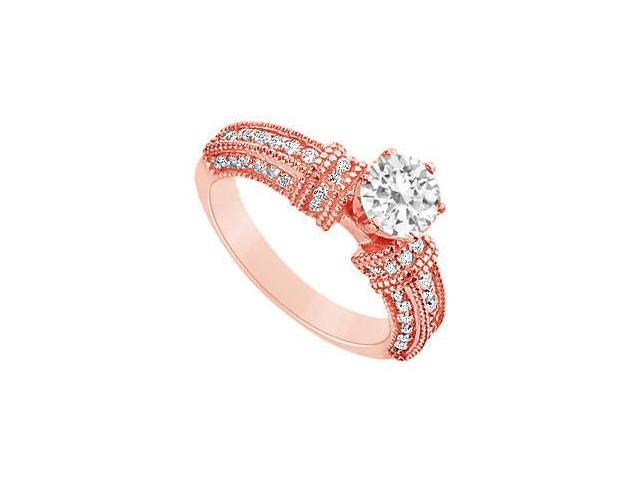 April Birthstone Diamond Engagement Ring in 14K Rose Gold 1 CT TDW