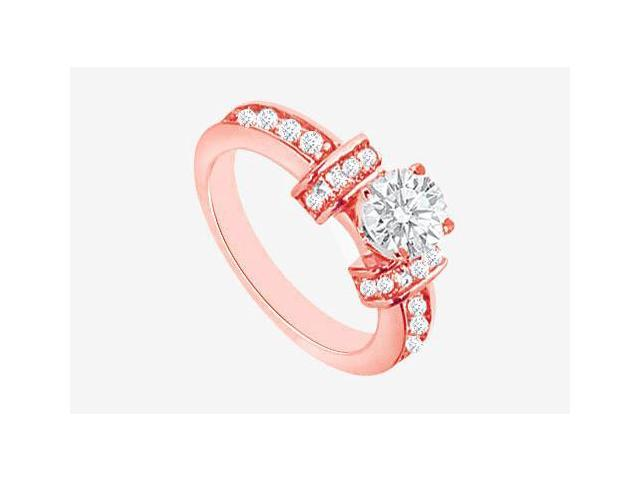 April Birthstone Diamond Engagement Ring in 14K Rose Gold 1.60 CT TDW