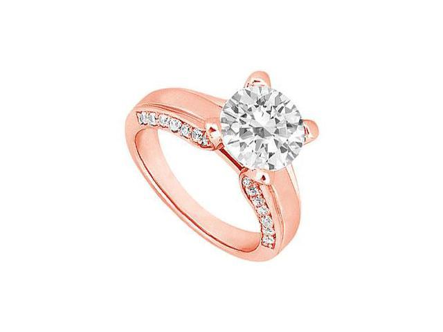 April Birthstone Diamond Engagement Ring in 14K Rose Gold 1.00 CT TDW