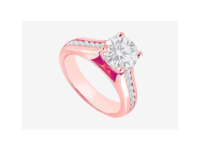 April Birthstone Diamond Engagement Ring in 14K Rose Gold 1.10 CT TDW