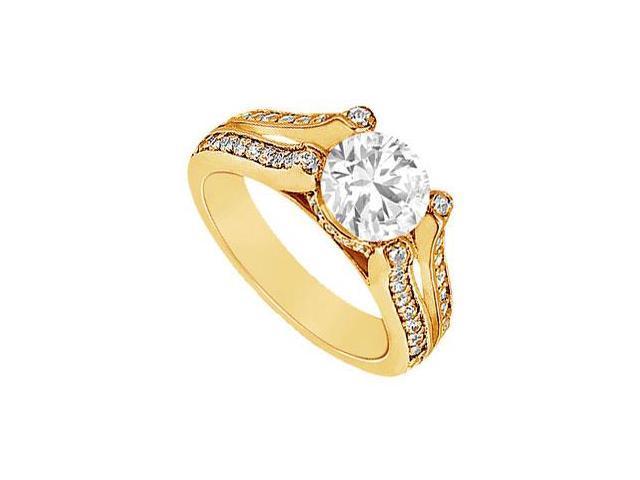 Diamond Engagement Ring  14K Yellow Gold - 1.50 CT Diamonds