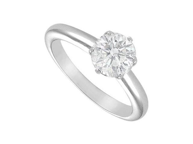 Diamond Solitaire Ring  18K White Gold  1.75 CT Diamond