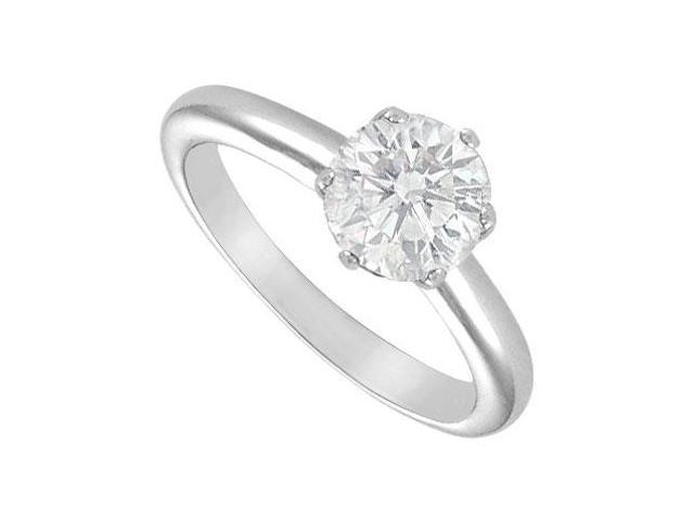 Diamond Solitaire Ring  18K White Gold  2.00 CT Diamond