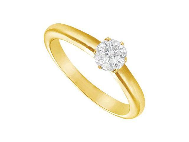 Diamond Solitaire Ring  18K Yellow Gold  0.33 CT Diamond