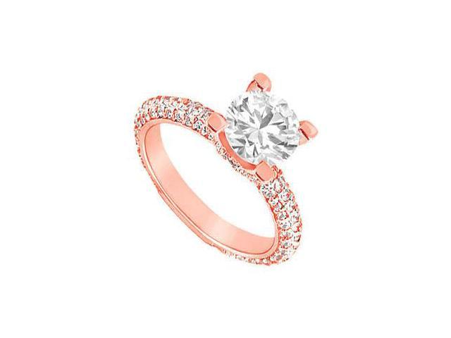 April Birthstone Diamond Engagement Ring in 14K Rose Gold 1.50 CT TDW