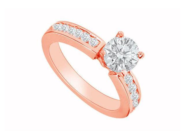April Birthstone Diamond Engagement Ring in 14K Rose Gold 0.80 CT TDW