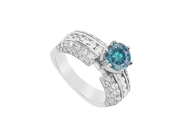 Blue Diamond Engagement Ring  14K White Gold - 2.75 CT Diamonds