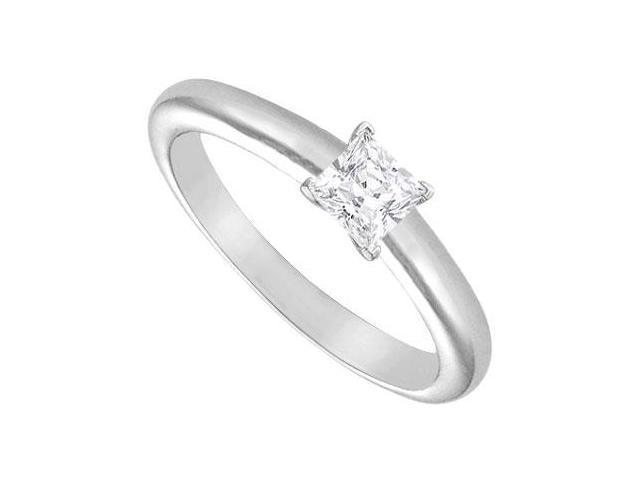 Diamond Solitaire Ring  14K White Gold  0.25 CT Diamond
