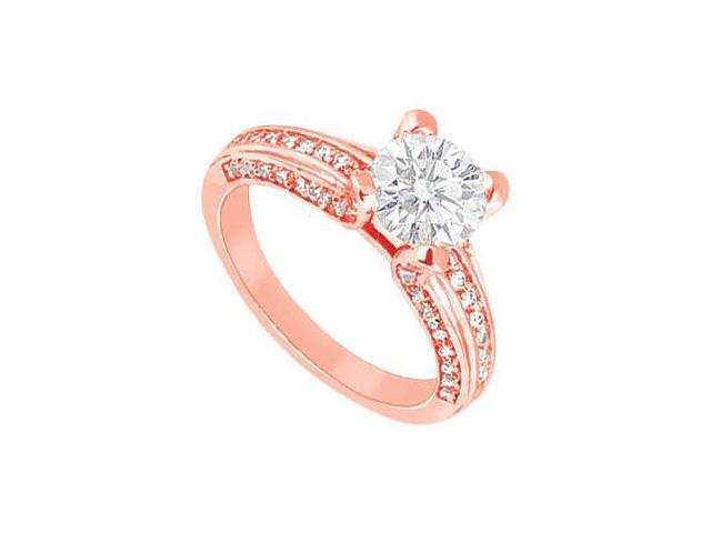 April Birthstone Diamond Engagement Ring in 14K Rose Gold 2.00 CT TDW