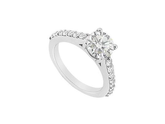 14K White Gold Semi Mount Engagement Ring with 0.33 Carat Diamonds Not Included Center Diamond