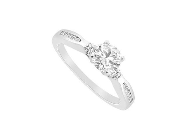 Diamond Engagement Rings  14K White Gold - 0.75 CT Diamonds