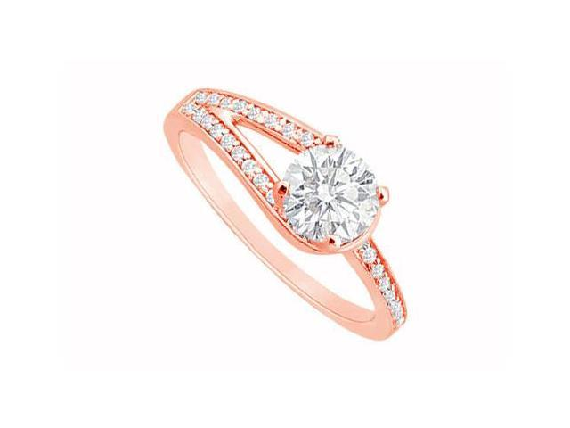 April Birthstone Diamond Engagement Ring in 14K Rose Gold 0.75 CT TDW