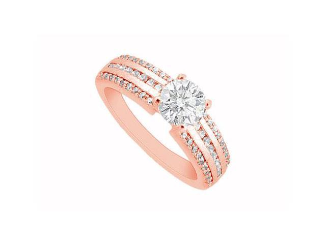 April Birthstone Diamond Engagement Ring in 14K Rose Gold 0.85 CT TDW