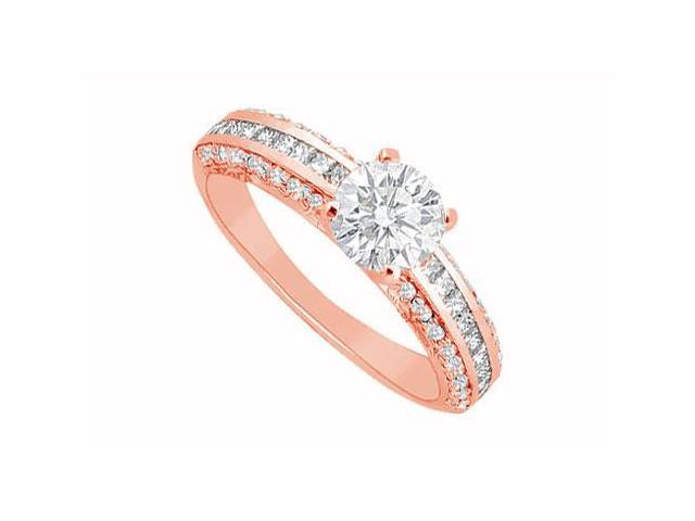 April Birthstone Diamond Engagement Ring in 14K Rose Gold 1.25 CT TDW