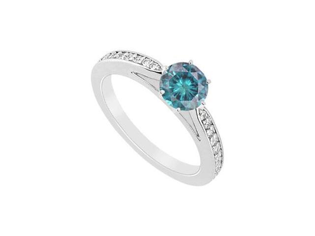 Blue Diamond Ring  14K White Gold - 0.75 CT Diamonds