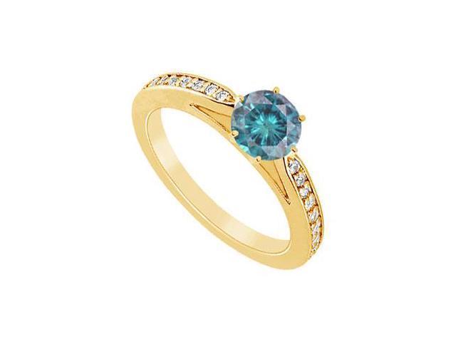 Blue Diamond Ring  14K Yellow Gold - 0.75 CT Diamonds