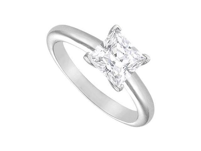 Diamond Solitaire Ring  14K White Gold  2.00 CT Diamond