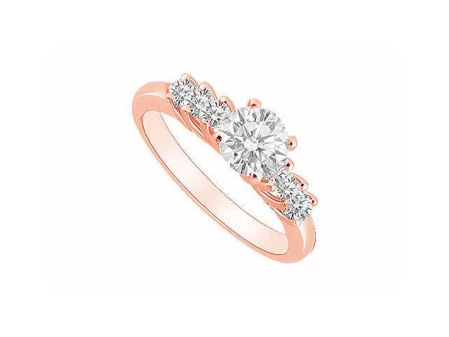 April Birthstone Diamond Engagement Ring in 14K Rose Gold 0.50 CT TDW