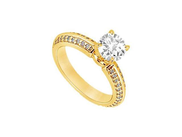 Diamond Engagement Ring  14K Yellow Gold - 1.00 CT Diamonds