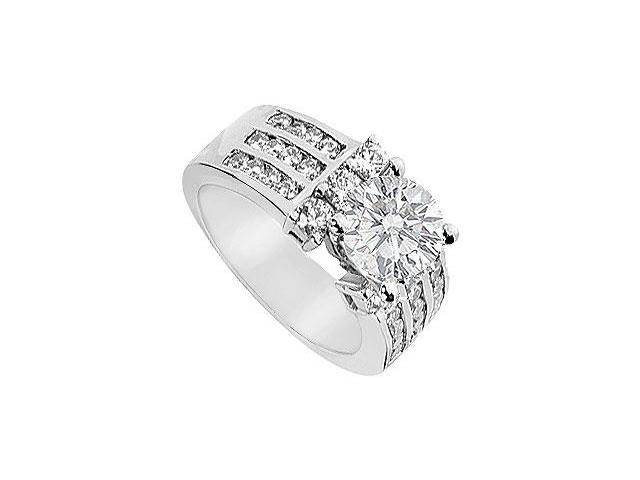Diamond Engagement Ring  18K White Gold - 2.00 CT Diamonds
