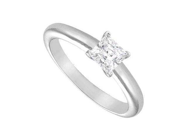 Diamond Solitaire Ring  18K White Gold  0.50 CT Diamond