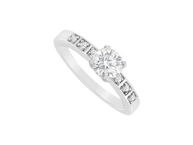 Diamond Engagement Ring  14K White Gold - 0.60 CT Diamonds