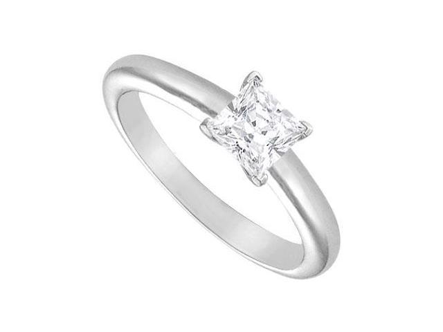 Diamond Solitaire Ring  18K White Gold  0.75 CT Diamond