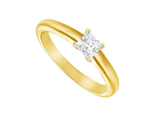 Diamond Solitaire Ring  14K Yellow Gold  0.25 CT Diamond