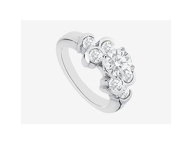 Brilliant Cut Diamond Engagement Rings in 14K White Gold 1.20 Carat Diamonds