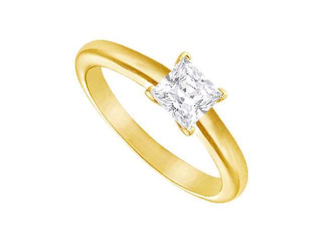 Diamond Solitaire Ring  14K Yellow Gold  0.75 CT Diamond