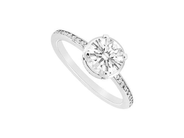 Diamond Engagement Ring  14K White Gold - 0.75 CT Diamonds