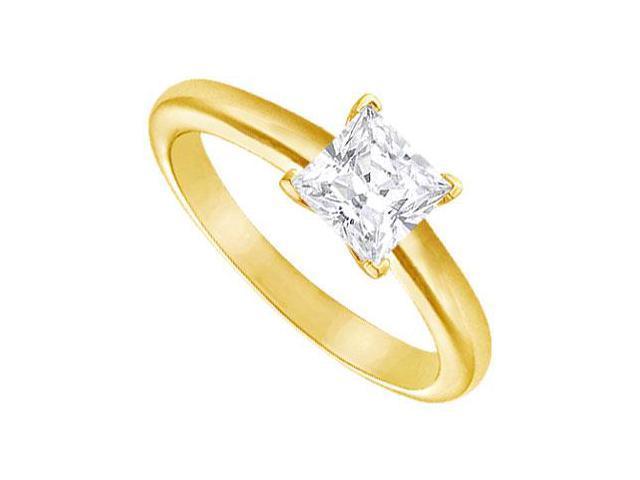 Diamond Solitaire Ring  14K Yellow Gold  1.25 CT Diamond
