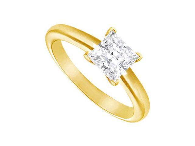 Diamond Solitaire Ring  14K Yellow Gold  1.50 CT Diamond