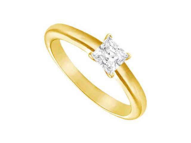 Diamond Solitaire Ring  18K Yellow Gold  0.33 CT Diamond