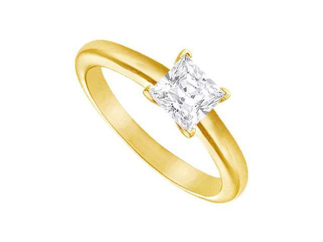 Diamond Solitaire Ring  18K Yellow Gold  1.00 CT Diamond