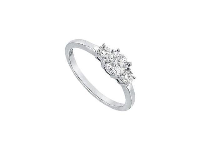 Three Stone Diamond Engagement Ring  Platinum - 0.75 CT Diamonds
