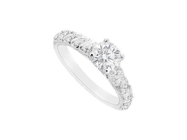 Diamond Engagement Ring  14K White Gold - 0.75 CT Diamonds