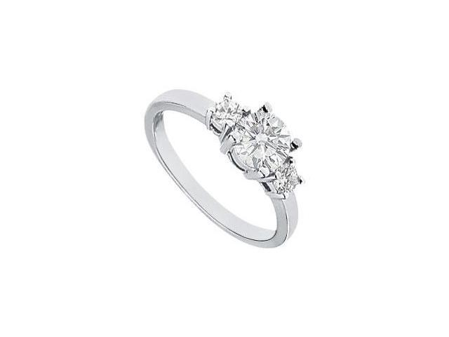 Three Stone Diamond Engagement Ring  Platinum - 1.00 CT Diamonds
