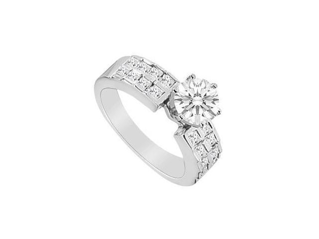 1 Carat Diamonds Engagement Ring in 14K White Gold
